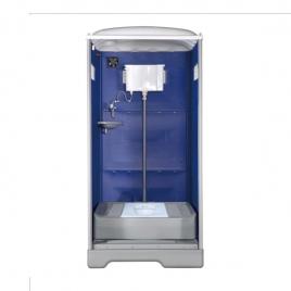 排放式流動廁所(無帽緣-平式陶瓷便盆)